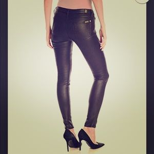 7 For All Mankind Faux Leather Skinny Jeans